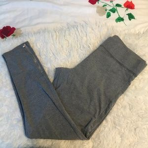 🌟High rise grey leggings with zipper on the side